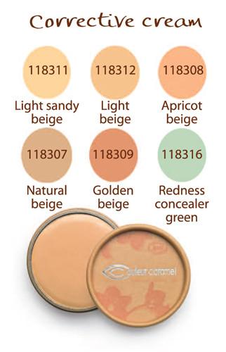 couleur_caramel_corrective_cream_concealer_colour_chart