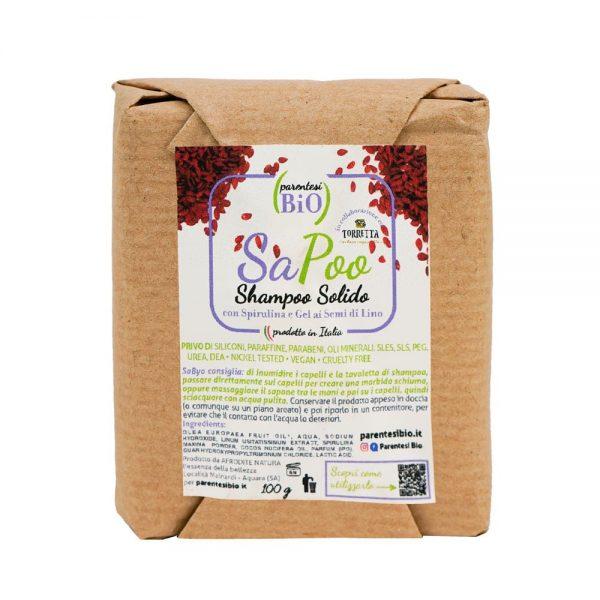 Sapoo – shampoo solido con spirulina e gel ai semi di lino